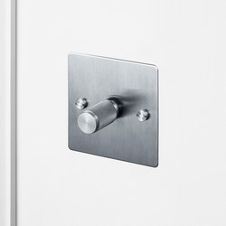 Electricity | 1G Dimmer | Steel | Rotary dimmers | Buster + Punch