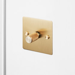 Electricity | 1G Dimmer | Brass | Rotary dimmers | Buster + Punch