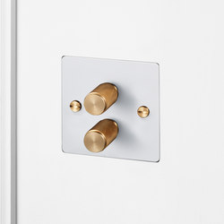 Electricity | 2G Dimmer | White | Brass | Rotary dimmers | Buster + Punch