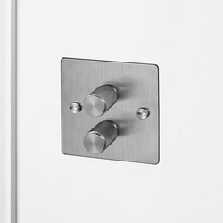 Electricity | 2G Dimmer | Steel | Rotary dimmers | Buster + Punch