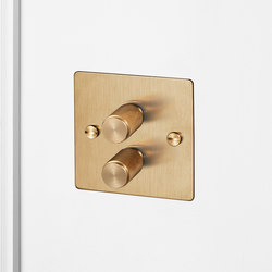 Electricity | 2G Dimmer | Brass | Rotary dimmers | Buster + Punch
