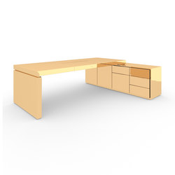 DESK IV-I special edition - Gold | Contract tables | Rechteck