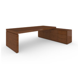 DESK IV-I special edition - Precious wood mahogany | Contract tables | Rechteck
