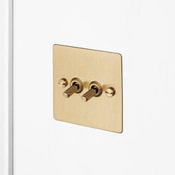 Electricity   2G Toggle   Brass   Interruttori leva   Buster + Punch