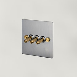 Electricity   3G Toggle   Steel   Brass   Interruttori leva   Buster + Punch