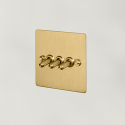 Electricity   3G Toggle   Brass   Toggle switches   Buster + Punch