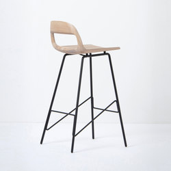 Leina bar chair | regular | Bar stools | Gazzda