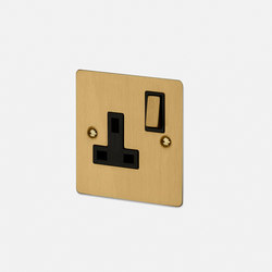 Electricity | 1G UK Socket | Brass | Prese inglesi | Buster + Punch