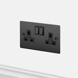 Electricity | 2G UK Socket | Black | British sockets | Buster + Punch