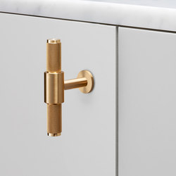 T Bar | Nude | Brass | Cabinet handles | Buster + Punch