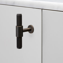 T Bar | Nude | Smoked Bronze | Cabinet handles | Buster + Punch