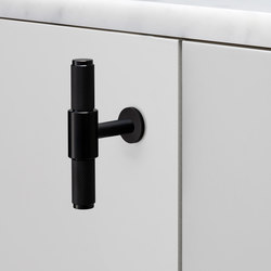 T Bar | Nude | Smoked Black | Cabinet handles | Buster + Punch