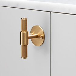 T Bar | Plate | Brass | Cabinet handles | Buster + Punch