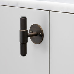 T Bar | Plate | Smoked Bronze | Cabinet handles | Buster + Punch