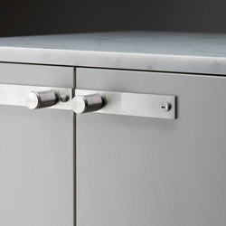 Furniturer Knob | Plate | Steel | Cabinet knobs | Buster + Punch