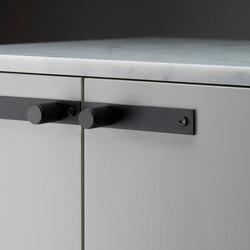 Furniturer Knob | Plate | Black | Cabinet knobs | Buster + Punch