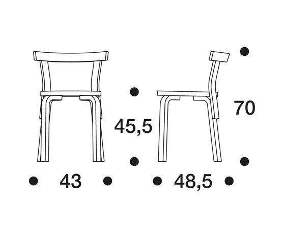 Chair 68 von Artek | Mehrzweckstühle