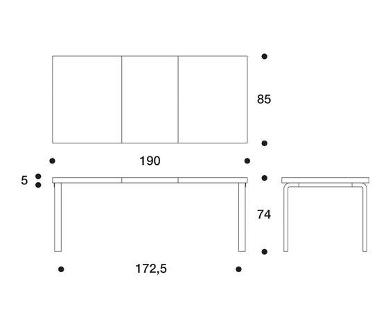 Extension Table 97 di Artek | Tavoli da pranzo