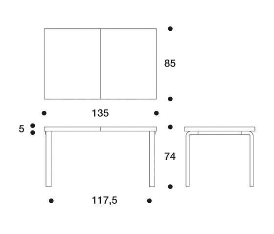 Extension Table 97 von Artek | Esstische