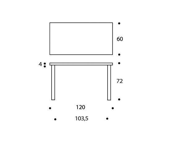 Table 80A by Artek | Desks