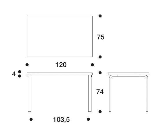 Table 81B de Artek | Bureaux individuels
