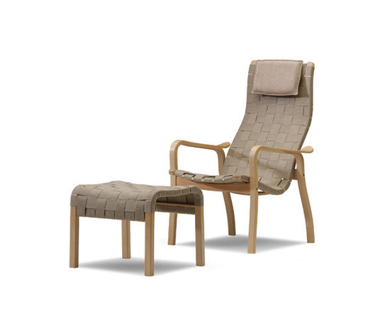 Primo easy chair with footstool di Swedese | Poltrone lounge
