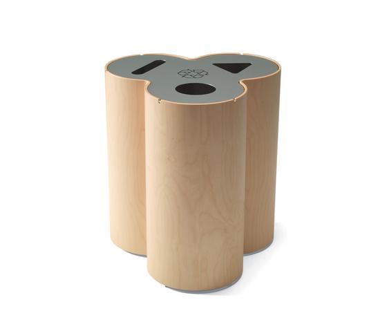 Trio recycling bin de Materia | Cubos basura / Papeleras