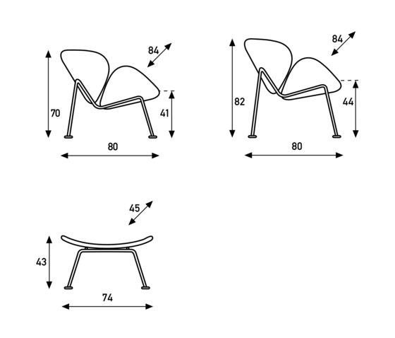 Orange Slice by Artifort | Lounge chairs