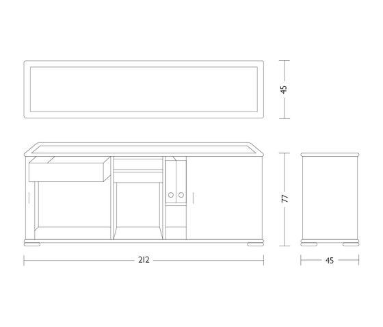 Rolladen-Sideboard von Röthlisberger Kollektion | Sideboards / Kommoden