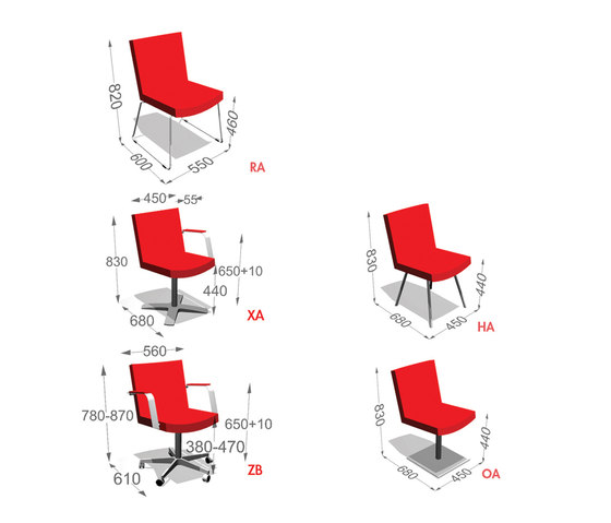 Select Medium by Inno | Visitors chairs / Side chairs