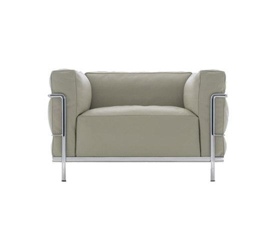 Lc3 cassina 2 seater 3 seater armchair - Mobiliario le corbusier ...