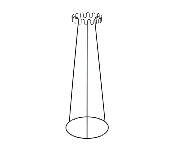 Crown coat stand by Desalto | Freestanding wardrobes