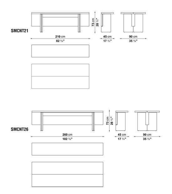 Sibilla by Maxalto | Console tables