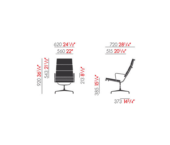 Soft Pad Group EA 215/EA 216 by Vitra | Lounge chairs