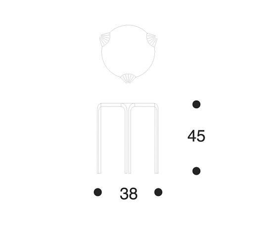 Stool X600 de Artek | Tabourets