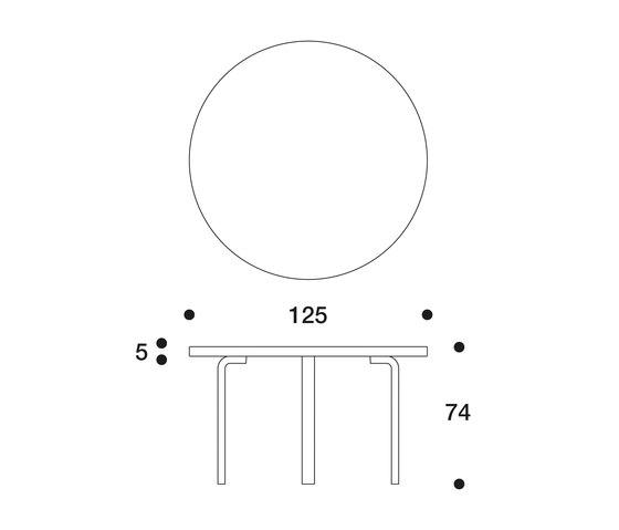 Table 91 von Artek | Kantinentische