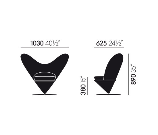 Heart Cone Chair de Vitra | Sillones lounge