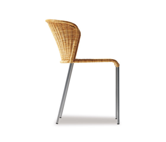 Santa Lucia Rattan Chair de Richard Lampert | Chaises de restaurant