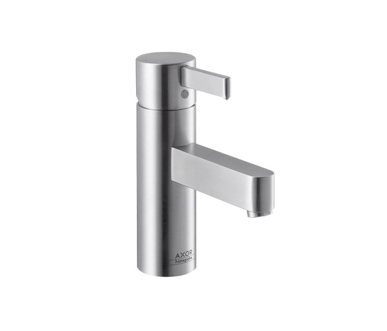 AXOR Steel Single Lever Basin Mixer by AXOR | Wash-basin taps