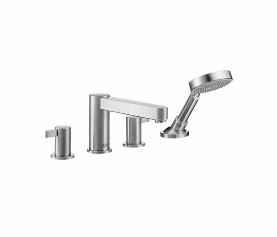 AXOR Steel 4-Hole Bath Mixer by AXOR | Bath taps