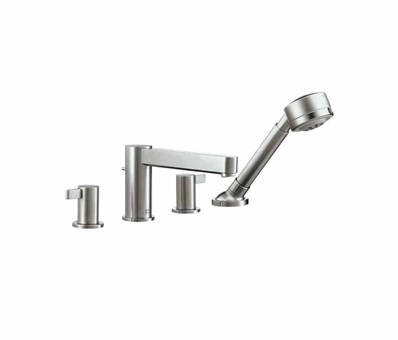 AXOR Steel 4-Hole Bath Mixer by AXOR | Bath taps