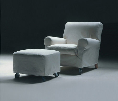 Nonnamaria armchair/footstool by Flexform | Lounge chairs