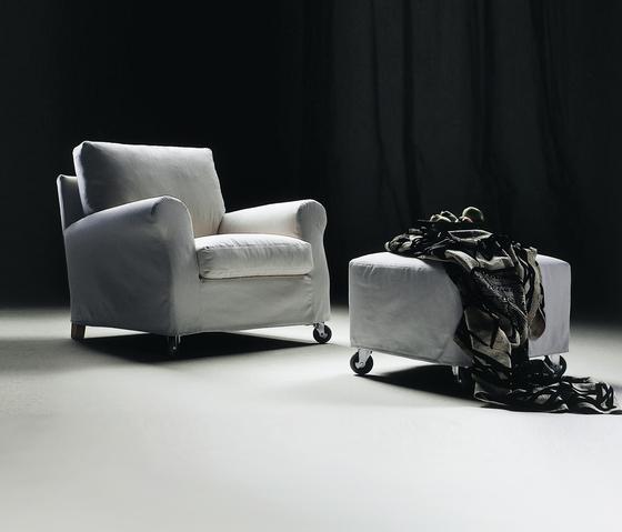Ugomaria armchair/ottoman by Flexform | Lounge chairs