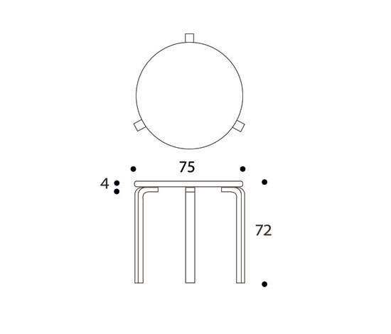 Table 90D von Artek | Cafeteriatische