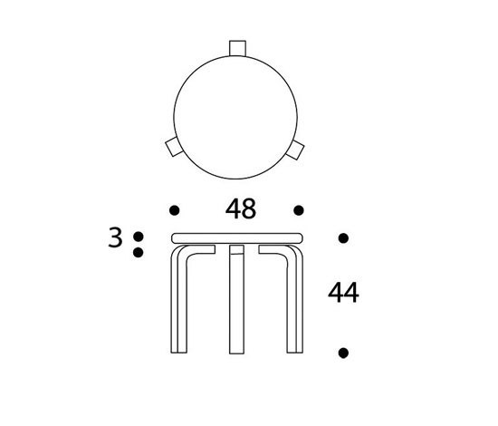 Table 90D di Artek | Tavoli caffetteria