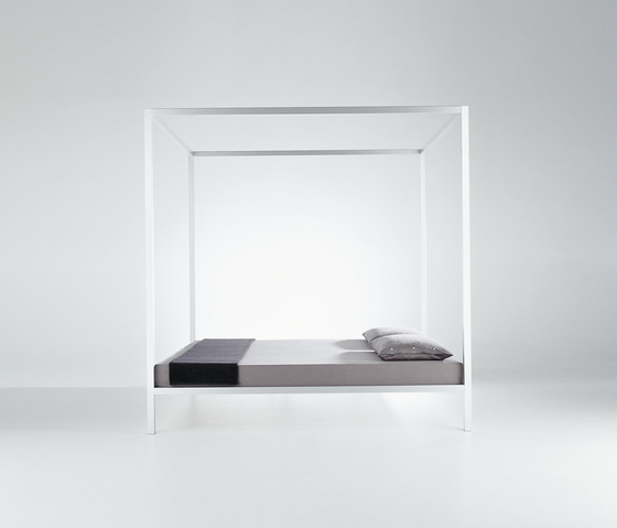 Aluminium Bed with Canopy by MDF Italia | Double beds
