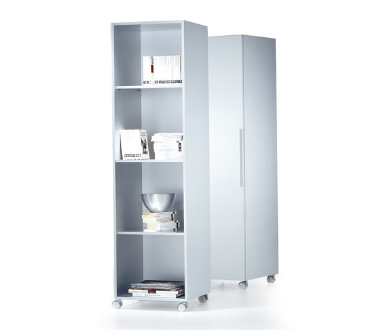 Aluminium Cabinet columns with doors* by MDF Italia | Cabinets