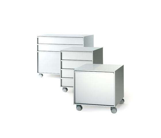 Aluminium Cabinet units on wheels* by MDF Italia | Pedestals