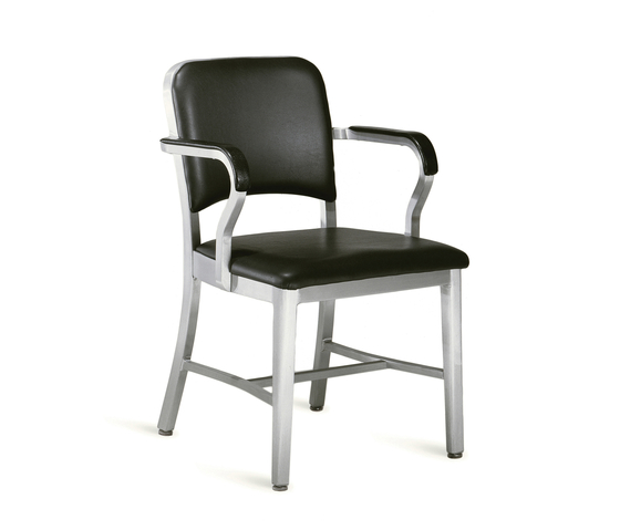 Navy® Upholstered armchair by emeco | Restaurant chairs