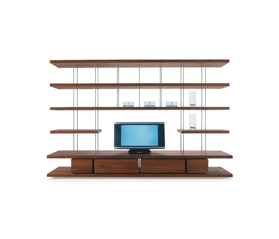 Piano Design Bookshelf by Riva 1920 | Wall storage systems